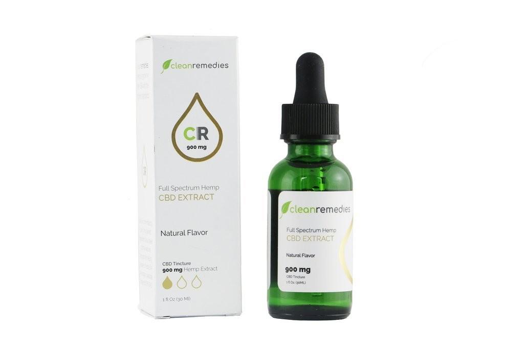 Clean Remedies 900mg - 900mg of Full Spectrum CBD Oil Drops