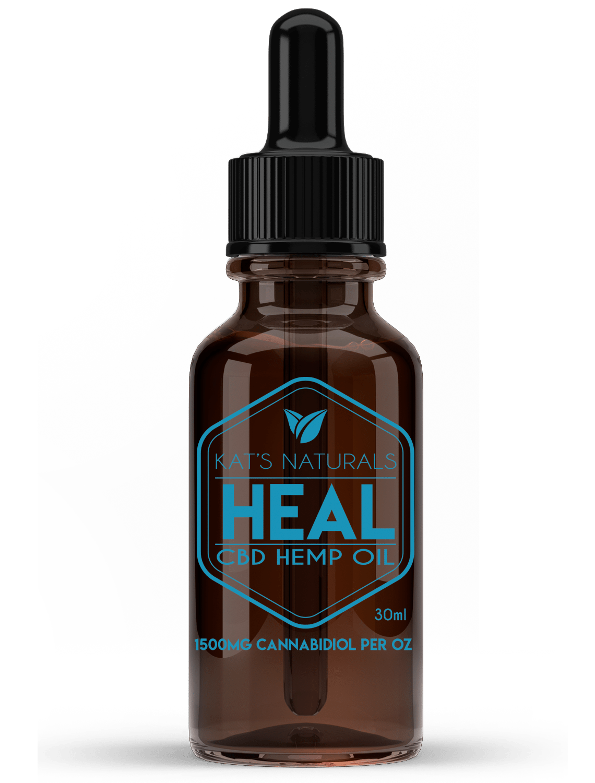 Kat's Naturals CBD Oil -Heal 1500MG (15ml)