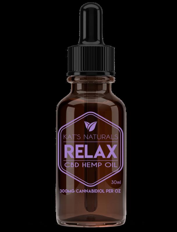 Kat's Naturals CBD Oil Relax -300MG (15ml)