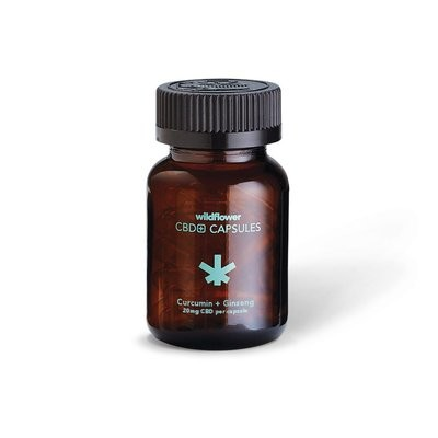 Wildflower CBD Oil Pills with Curcumin and Ginseng 500MG