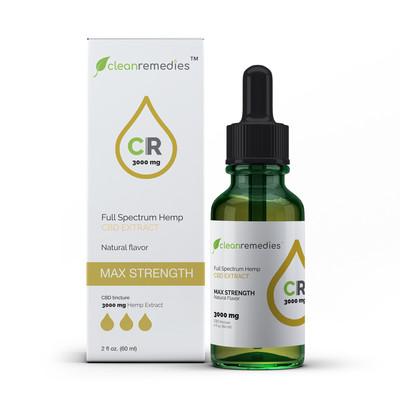 Clean Remedies 3000mg - 3000mg of Full Spectrum CBD Oil Drops