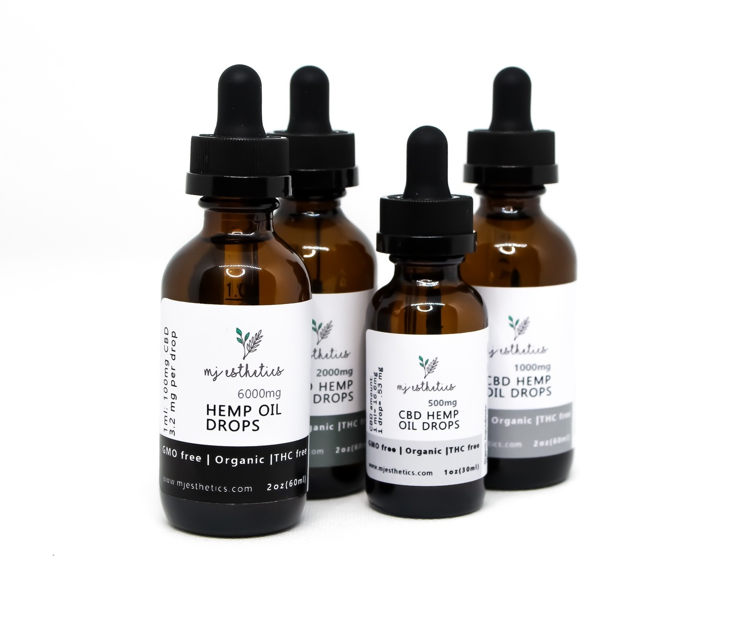 MJ Estetics CBD Oil Drops 500mg - Isolate (THC-Free)