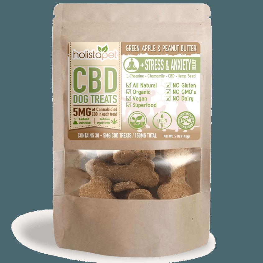 HolistaPet CBD Pet Treats- Stress and Anxiety Relief