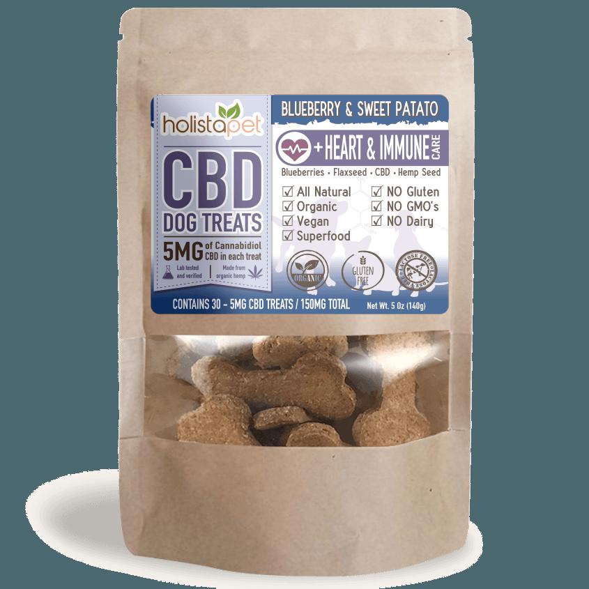 HolistaPet CBD Pet Treats- Heart and Immune Care
