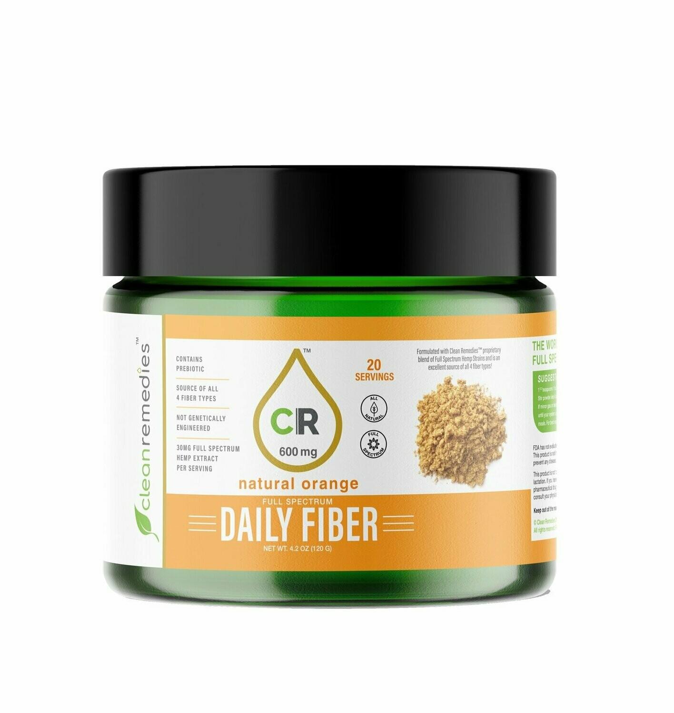 Clean Remedies Full Spectrum 600mg CBD Fiber -20 Servings