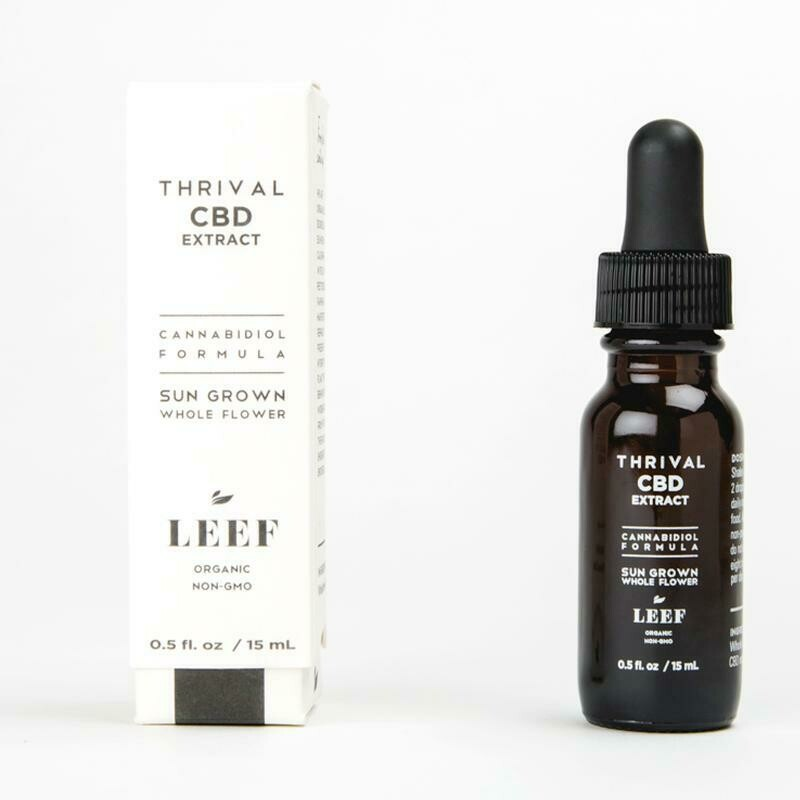 Leef Thrival CBD Extract - Full Spectrum Cold Pressed Fermentation