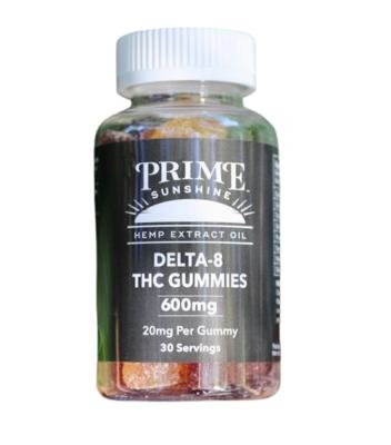 Prime Sunshine Delta 8 Gummies - 600mg D8