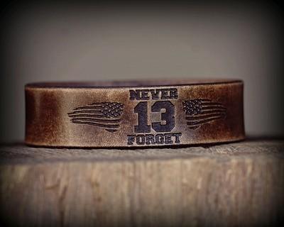NEVER FORGET - 13 HOURS Leather Bracelet