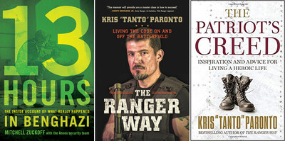 3 Book Package - All 3 Autographed books: 13 Hours, The Ranger Way, The Patriot's Creed)