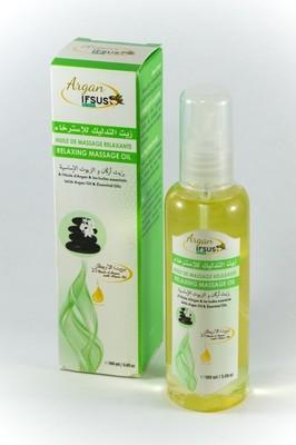Huile de massage relaxante à l'huile d'argan bio