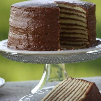 (10) Layer Chocolate Cake