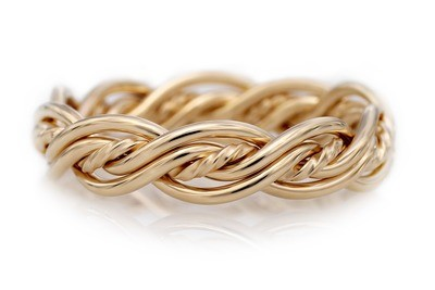 Five Strand Twist Weave Ring (4.5mm Width Pictured)