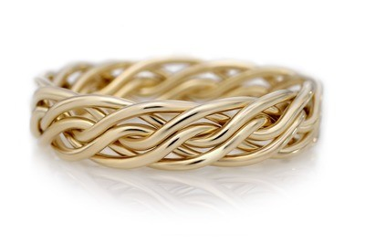 Six Strand Open Weave Ring (5.5mm Width Pictured)