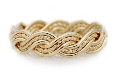 Six Strand Closed Weave Ring (6mm Width Pictured)