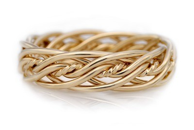 Seven Strand Twist Weave Ring (6.5mm Width Pictured)