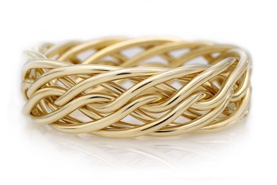 Eight Strand Open Weave Ring (7mm Width Pictured)