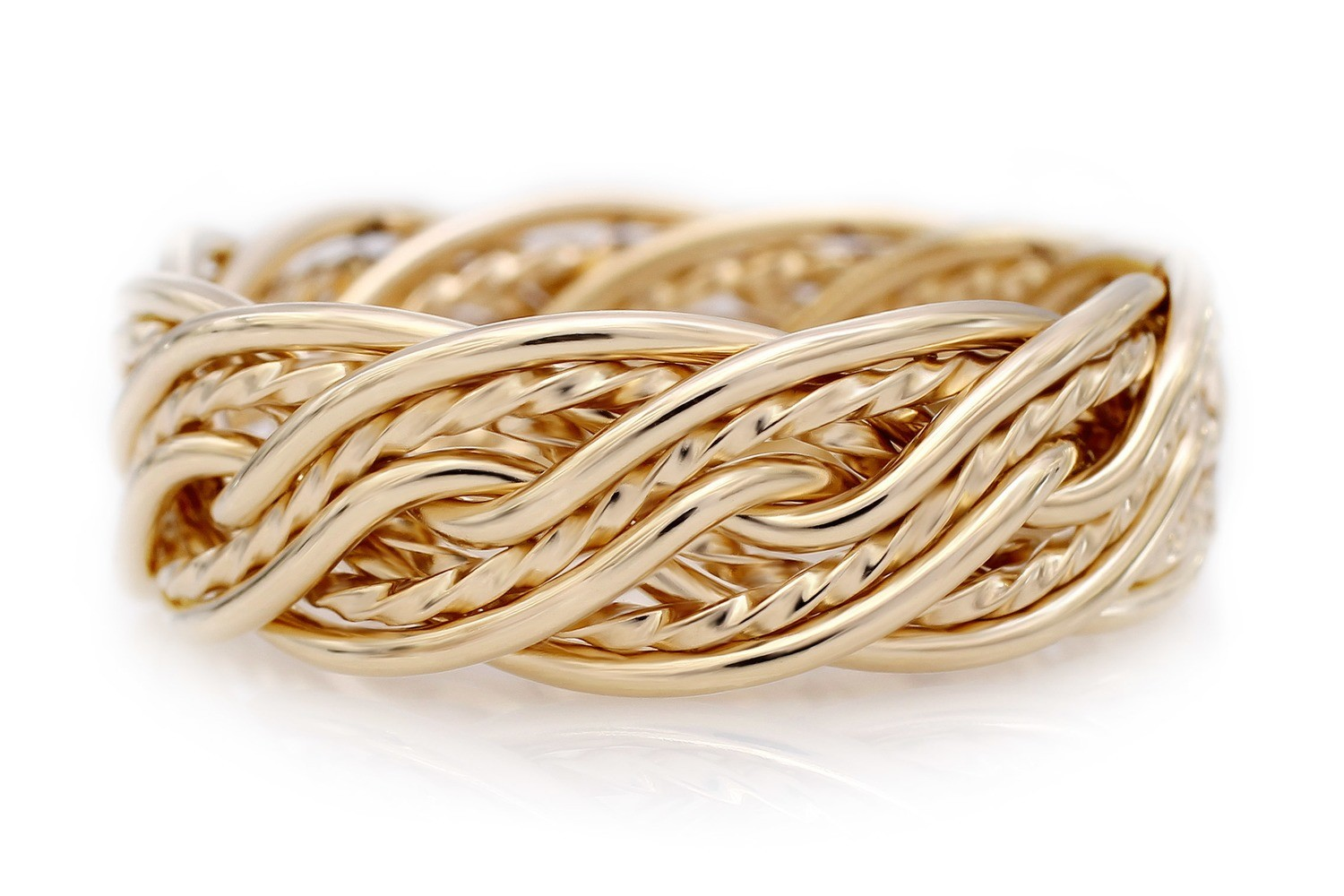 Ten Strand Open Weave Ring (8mm Width Pictured)