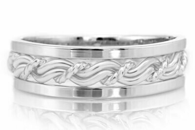 Upgrade From Round Outer Bands to Square Outer Bands (Must Match Original Outer Band Metal in Your Ring)
