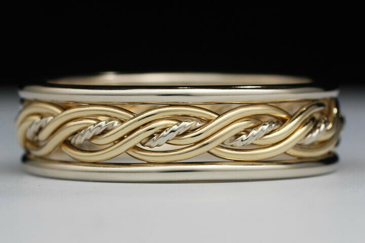 In Stock Special - OB520T Size 10. Two-Tone Five Strand Ring
