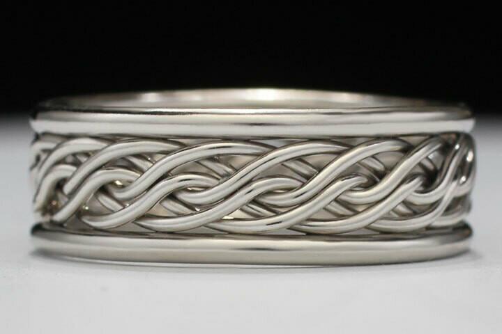 In Stock Special - OB622V Size 6. White Gold Ring