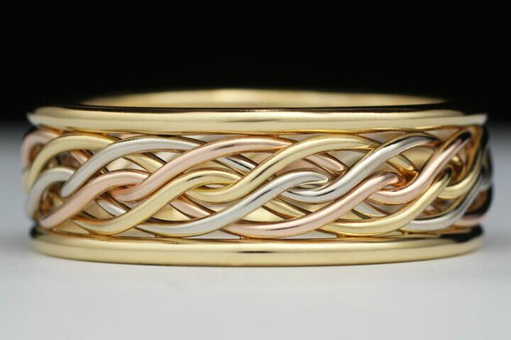 In Stock Special - OB618V Size 10. Tri-tone Ring