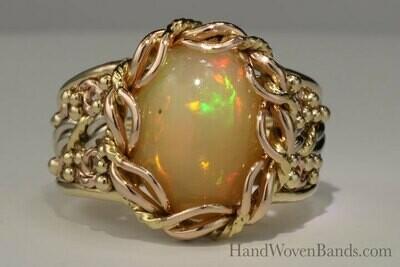 Tri-Gold Cabochon Opal Piece