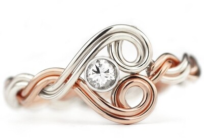 Woven Heart Ring