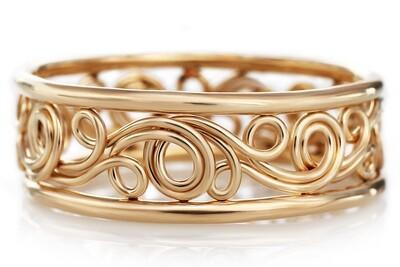 Unique Swirl Ring