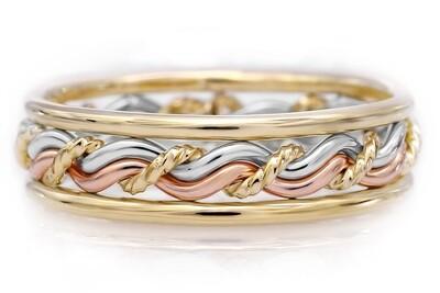 Most Vibrant Cord of Three™ Tri-tone Ring