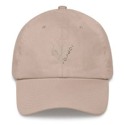 UNITED BY LOVE Dad Hat: Black Thread $35.00