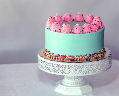 """Surprise!"" Baby Shower Cake"