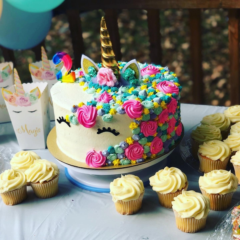 3 Layer Unicorn Cake