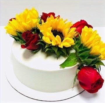 """""""When it Blooms"""" Party Cake"""