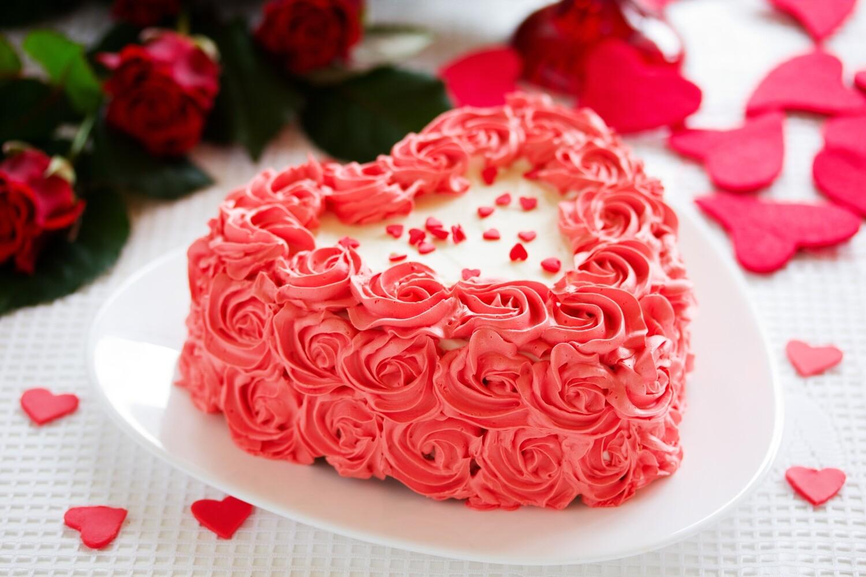 """""""Dearest Love"""" Cake"""