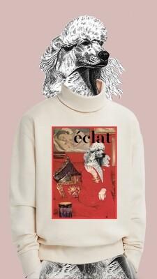 éclat Rollkragen sweater - Motiv Pudel