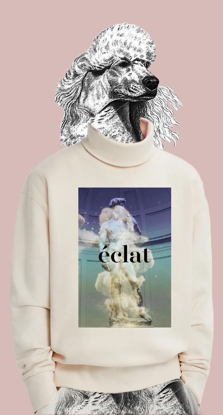 éclat sweater - Rollkragen- Motiv David