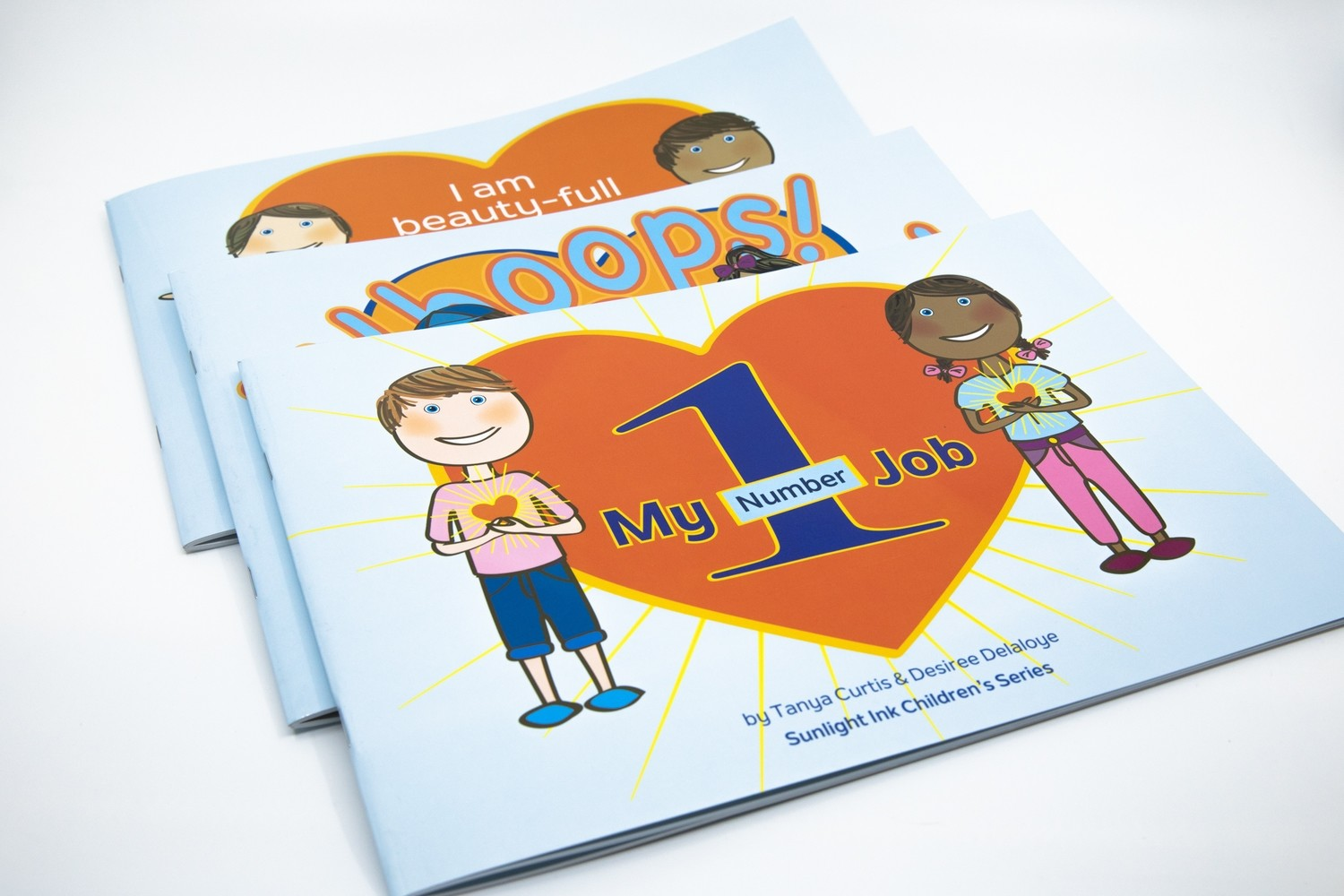 Set of 3 Books - I Am Beauty-Full Just for Being Me + Whoops! ... Is One of My Favourite Words + My No 1 Job