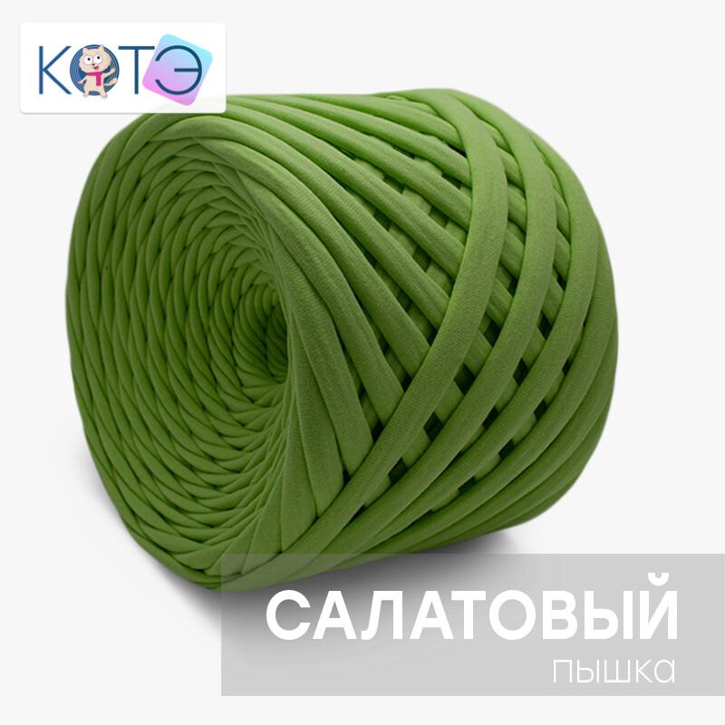 "Трикотажная пряжа ""КОТЭ""(Пышка), цвет: Салатовый"