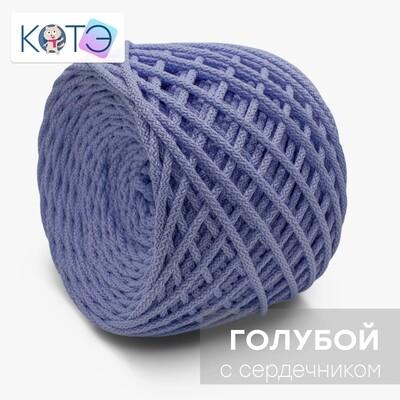 Полиэфирный шнур c сердечником. Цвет: Голубой