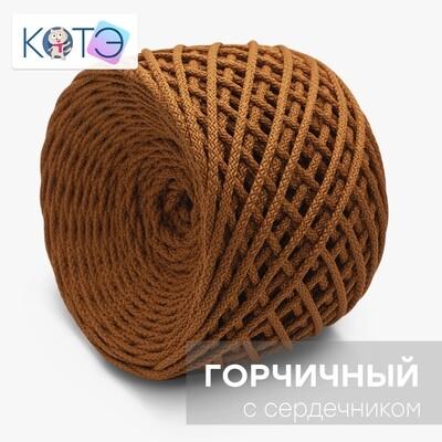 Полиэфирный шнур c сердечником. Цвет: Горчичный
