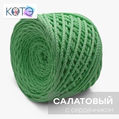 Полиэфирный шнур c сердечником. Цвет: Салатовый