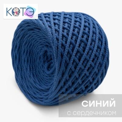 Полиэфирный шнур c сердечником. Цвет: Синий
