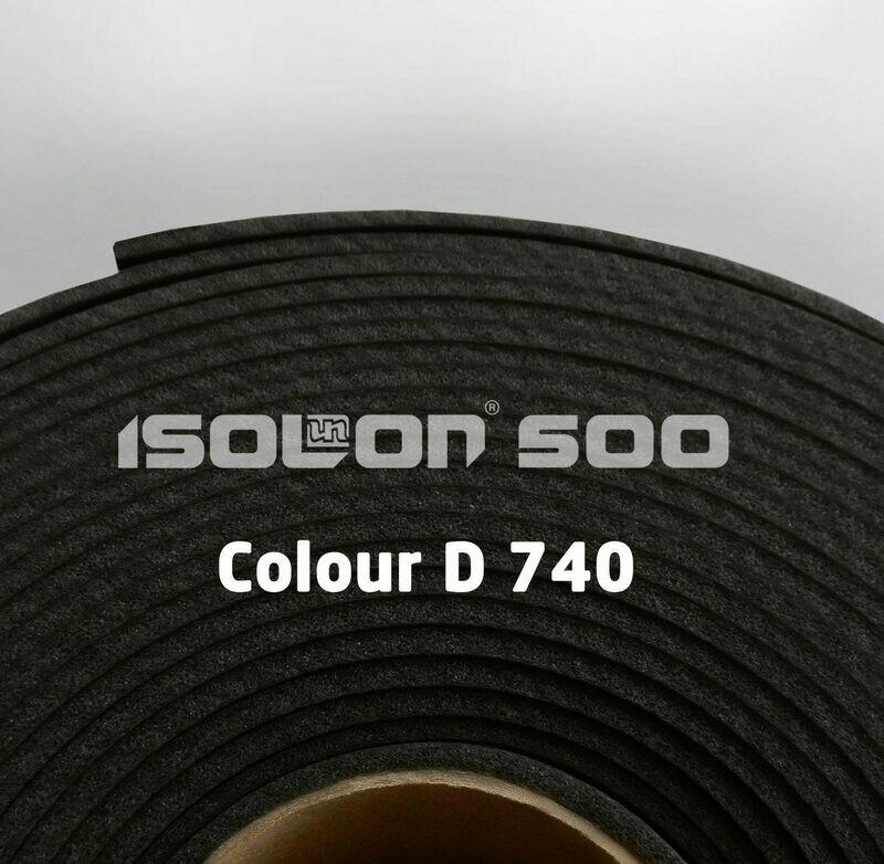 Изолон ППЭ 2 мм, ширина 75 см Цвет: Черный (D740)