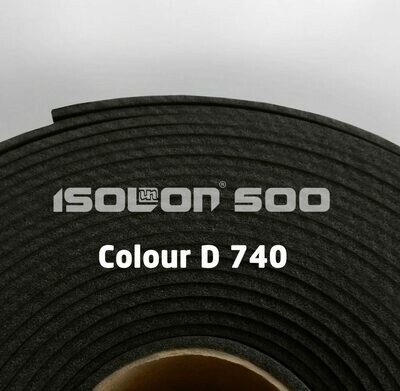 Изолон ППЭ 1 мм, ширина 75 см Цвет: Черный (D740)