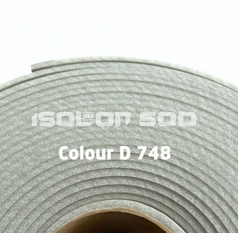 Изолон ППЭ 2 мм, ширина 75 см Цвет: Серебро (D748)