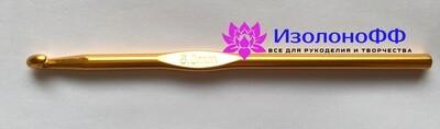 Крючок для вязания №6, алюминиевый