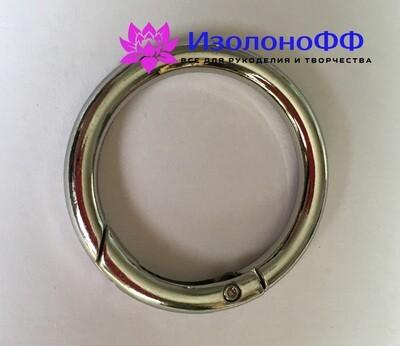 Кольцо-карабин 32мм, серебро