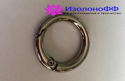 Кольцо-карабин 17мм, серебро