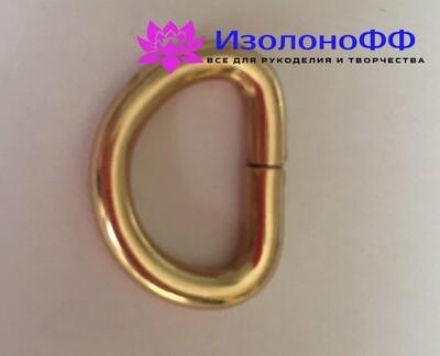 Полукольцо 16мм, золото