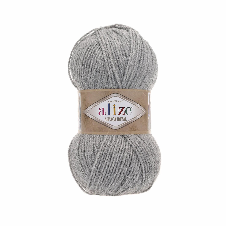 ALPACA ROYAL Светло-серый меланж №21